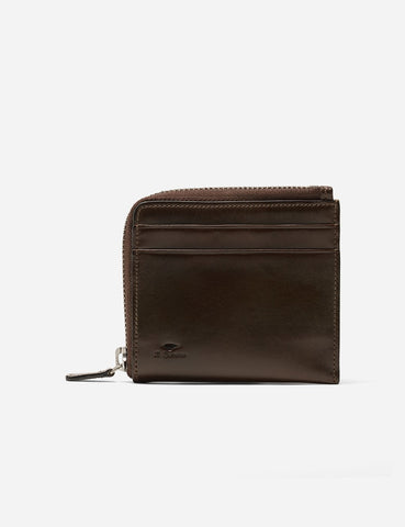 Il Bussetto Small Zip Wallet (Leather) - Dark Brown