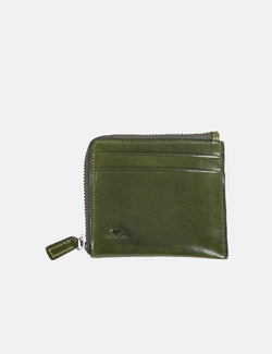 Il Bussetto Small Zip Wallet (Leather) - Dark Green