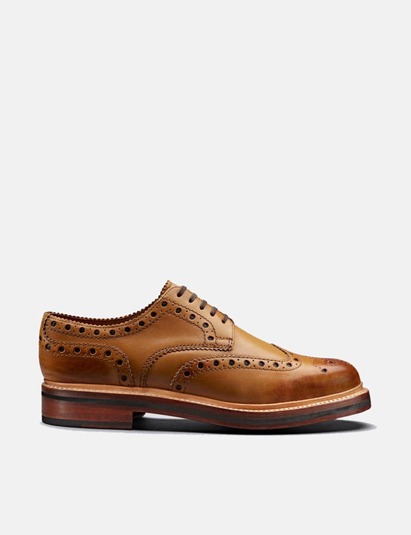 Grenson Archie Shoes (Calf Leather) - Tan