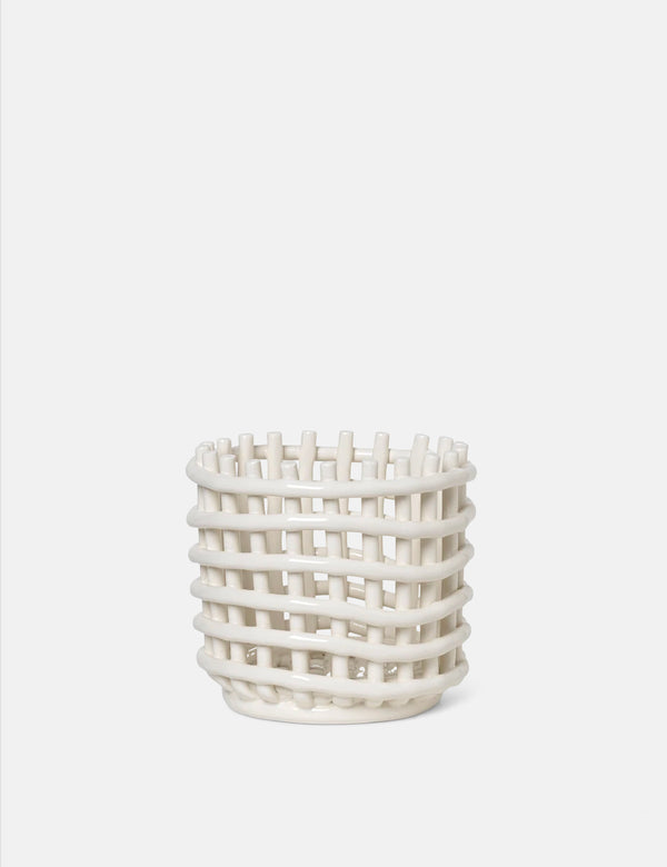Ferm Living Keramikkorb (klein) - Off White