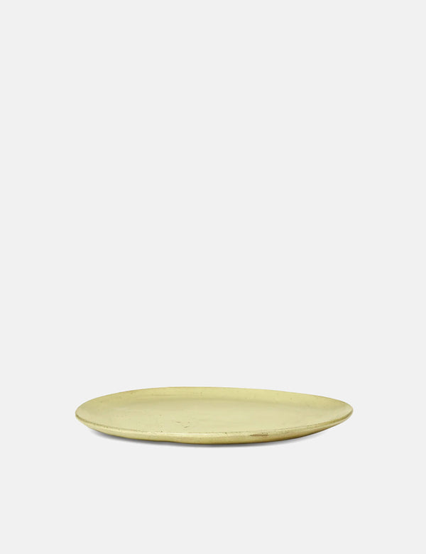 Ferm Living Flow Plate (Medium) - Yellow Speckle