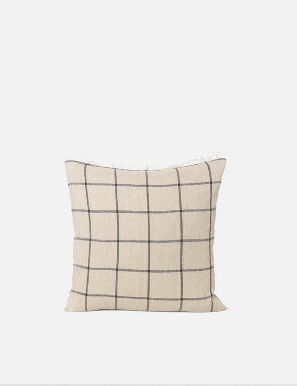 Ferm Living Calm Cushion(50x50cm)-キャメル/ブラック