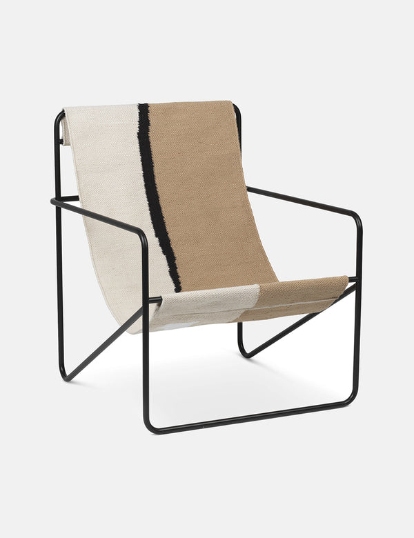 Ferm Living Desert Lounge Chair - Black/Soil