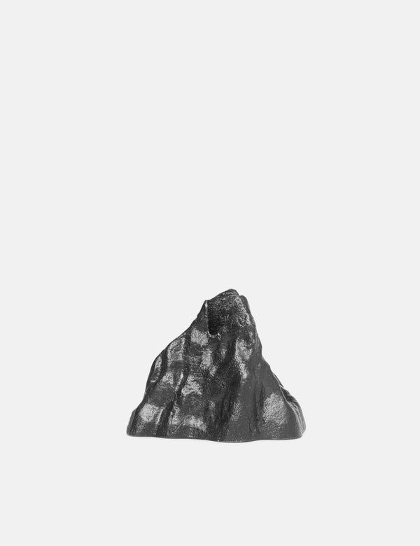Ferm Living Stone Candle Holder (Small) - Black Aluminium