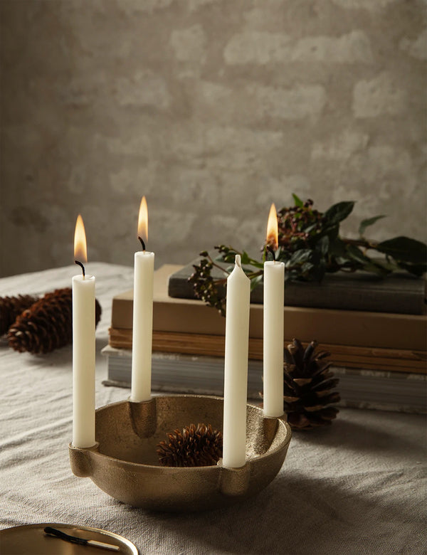 Ferm Living Bowl Candle Holder (Small) - Brass