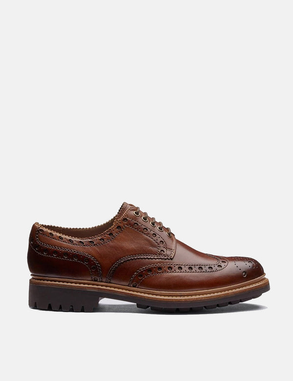 Grenson Archie Commando Sole Shoes (Leather) - Tan