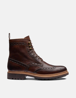 Grenson Fred Commando Sole Boot (Leather) - Brown