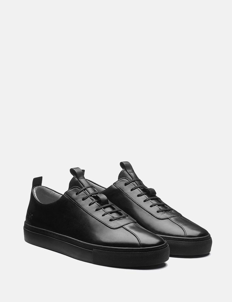 Grenson Sneakers 1 (Leather) - Black/Black