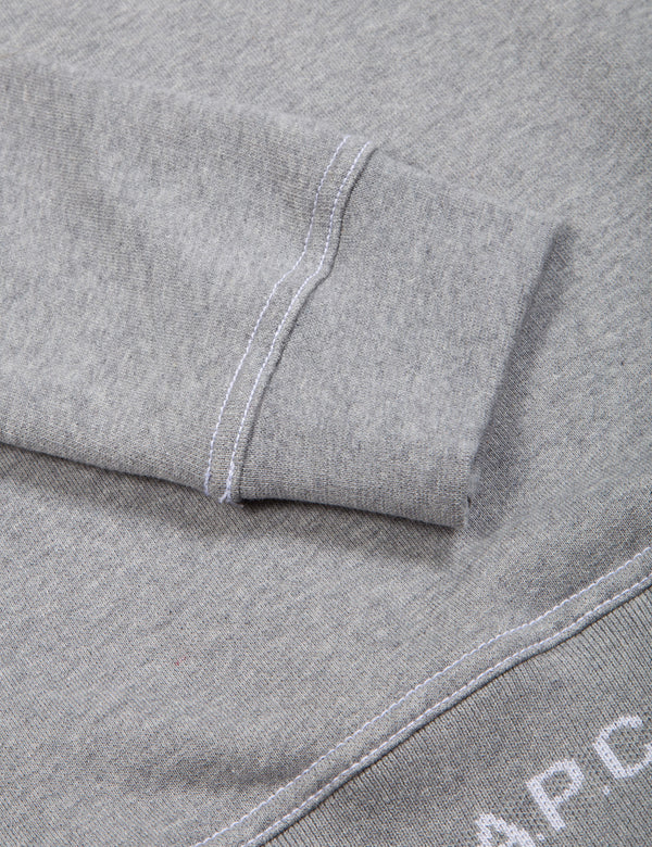 A.P.C. Austin Sweatshirt - Grey Heather