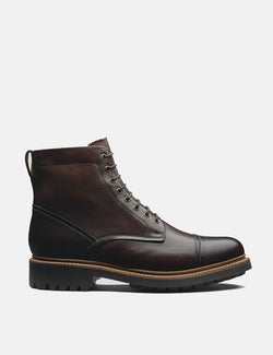 Grenson Joseph Boot (Hand Painted) - Dark Brown