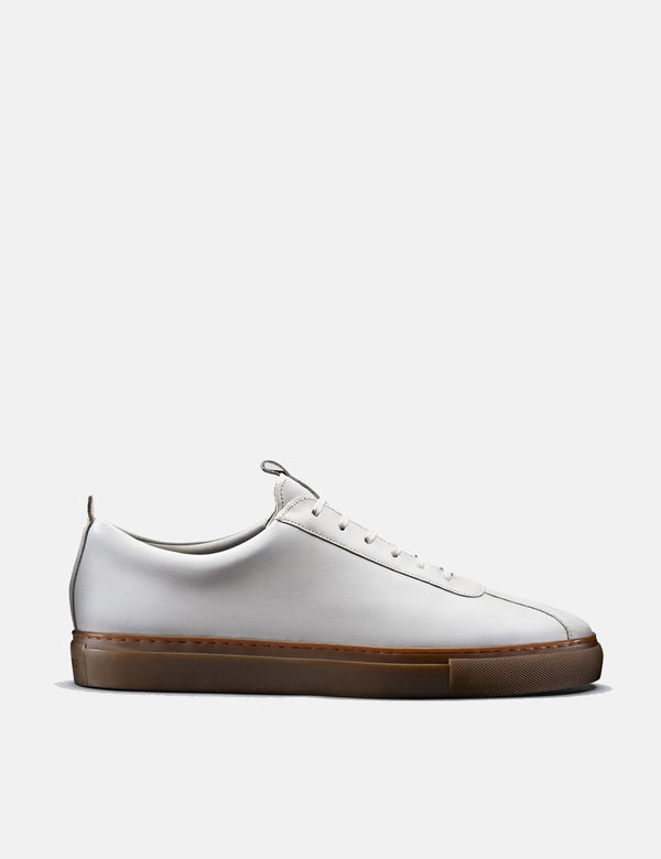 Grenson Sneakers No.1 (Leather) - White/Gum