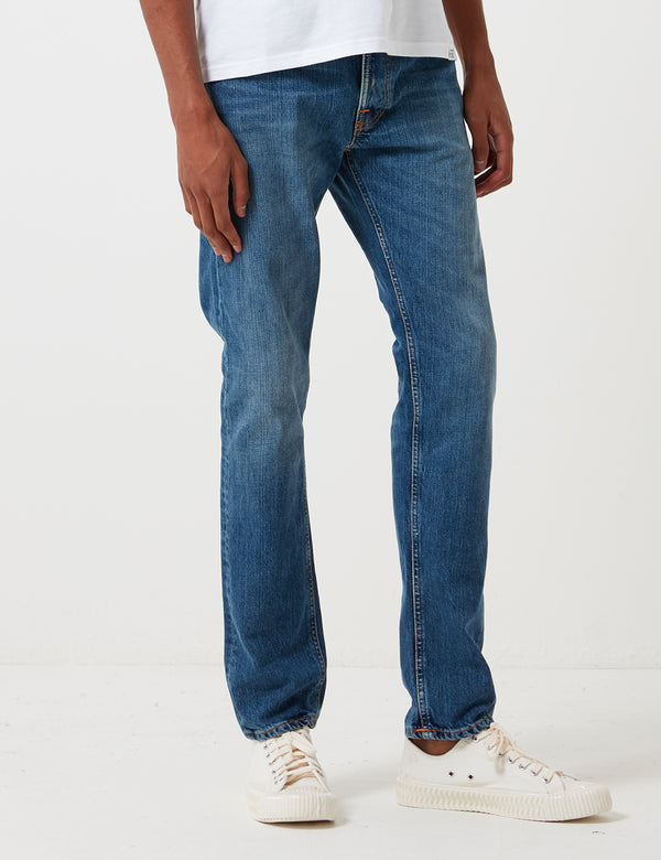 Nudie Fearless Freddie Jeans (Loose Taper) - Midnight Worn Blue