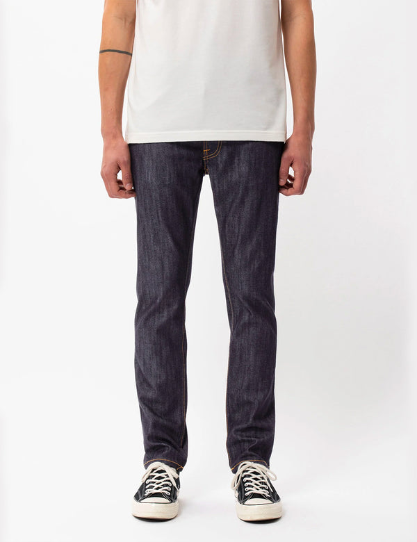 Nudie Lean Dean Jean (Slim Tapered) - Dry Ecru Embo