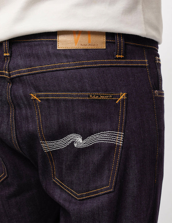 Jean Nudie Lean Dean (Slim Tapered) - Dry Ecru Embo