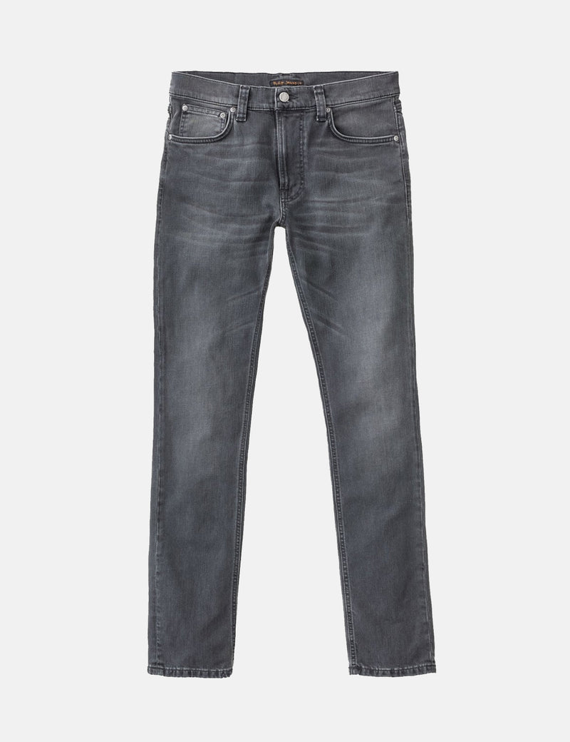 Nudie Lean Dean Jeans (Slim Tapered) - Mono Grey
