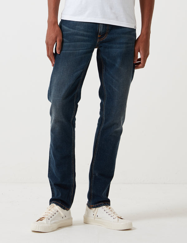 Nudie Lean Dean Jeans (Slim Tapered) - Dark Blues