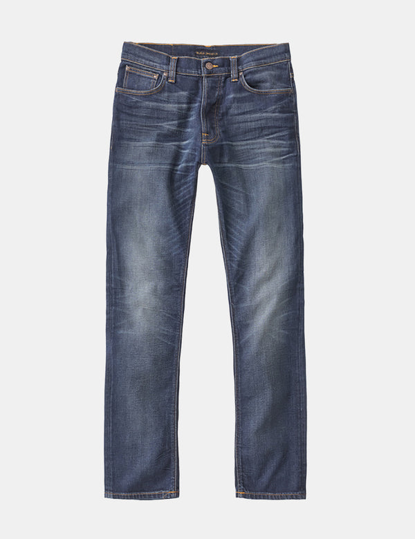 Nudie Dude Dan Jeans (Normal) - Gequetschtes Blau