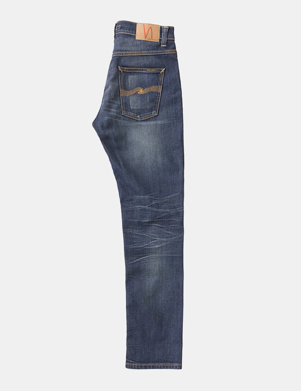 Nudie Dude Dan Jeans (Regular) - Bruised Blue