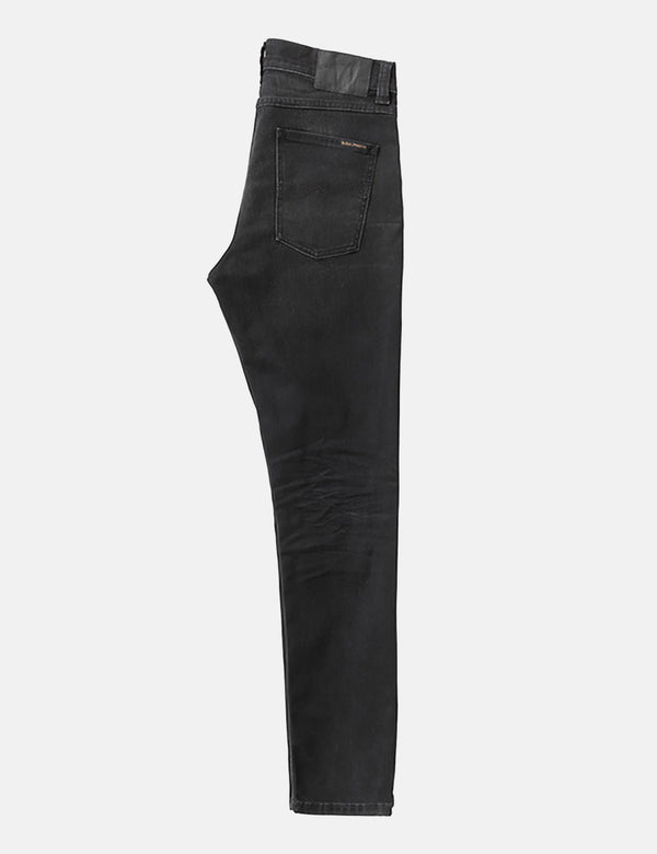 Nudie Lean Dean Jeans (Slim Tapered) - Authentic Black