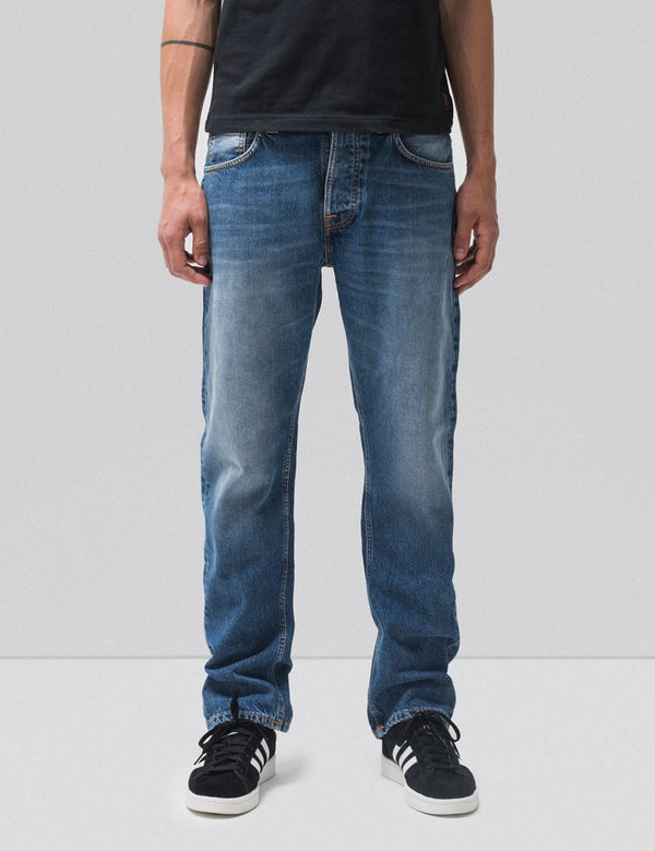 Nudie Sleepy Sixten Jeans(Relaxed Straight)-セレスティアルオレンジ