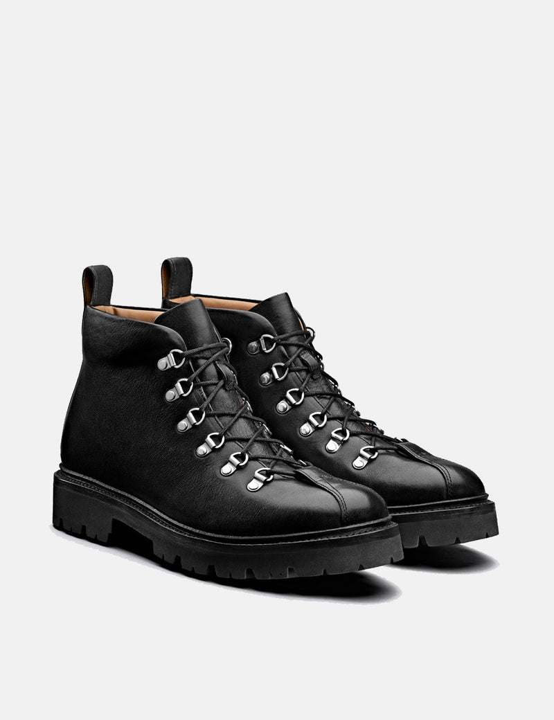 Grenson Bobby Hiker Boot (Smooth Leather) - Black