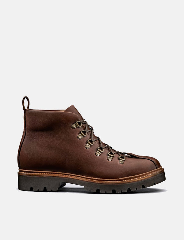 Grenson Bobby Hiker Boot (Smooth Leather) - Brown
