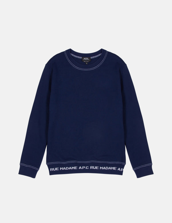 A.P.C. Austin Sweatshirt - Dark Navy Blue