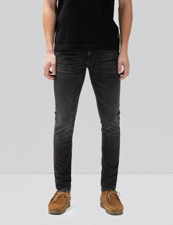 Nudie Skinny Lin Jeans (Super Tight) - Worn Black