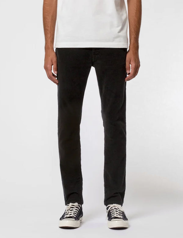 Nudie Lean Dean Jeans (Slim Tapered) - Black Corduroy
