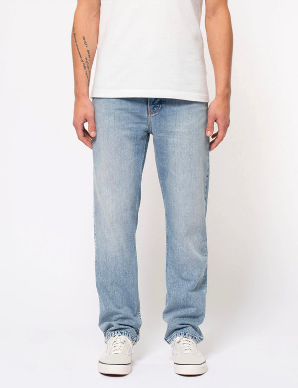 Nudie Sleepy Sixten Jeans (Relaxed Straight) - Spring Crush