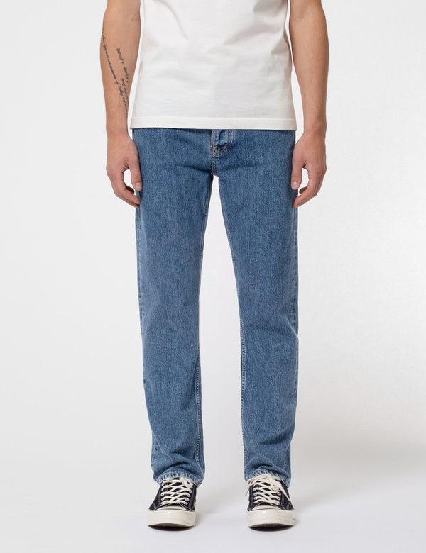 Nudie Sleepy Sixteen Jeans (Relaxed Straight) - Friendly Blue