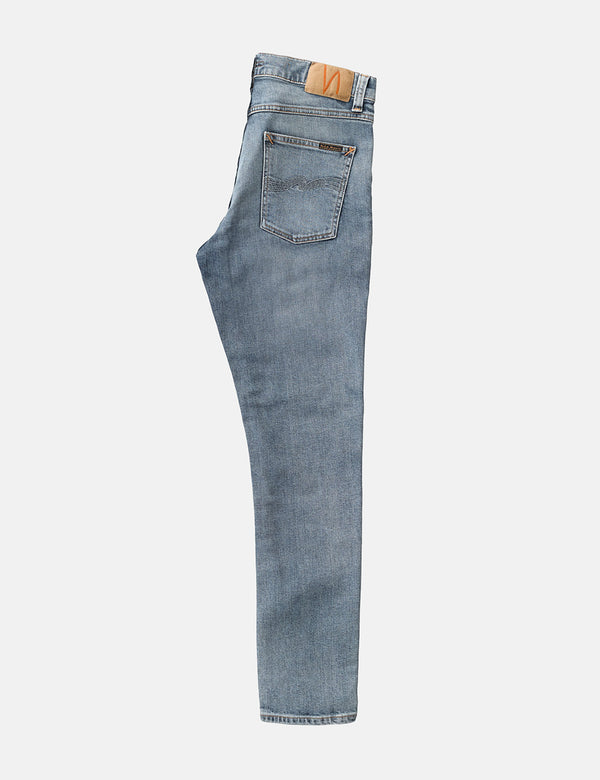Nudie Lean Dean Jeans (Slim Tapered) - Indigo Salt