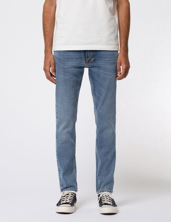 Nudie Lean Dean Jeans (schmal verjüngt) - Lost Orange Blue