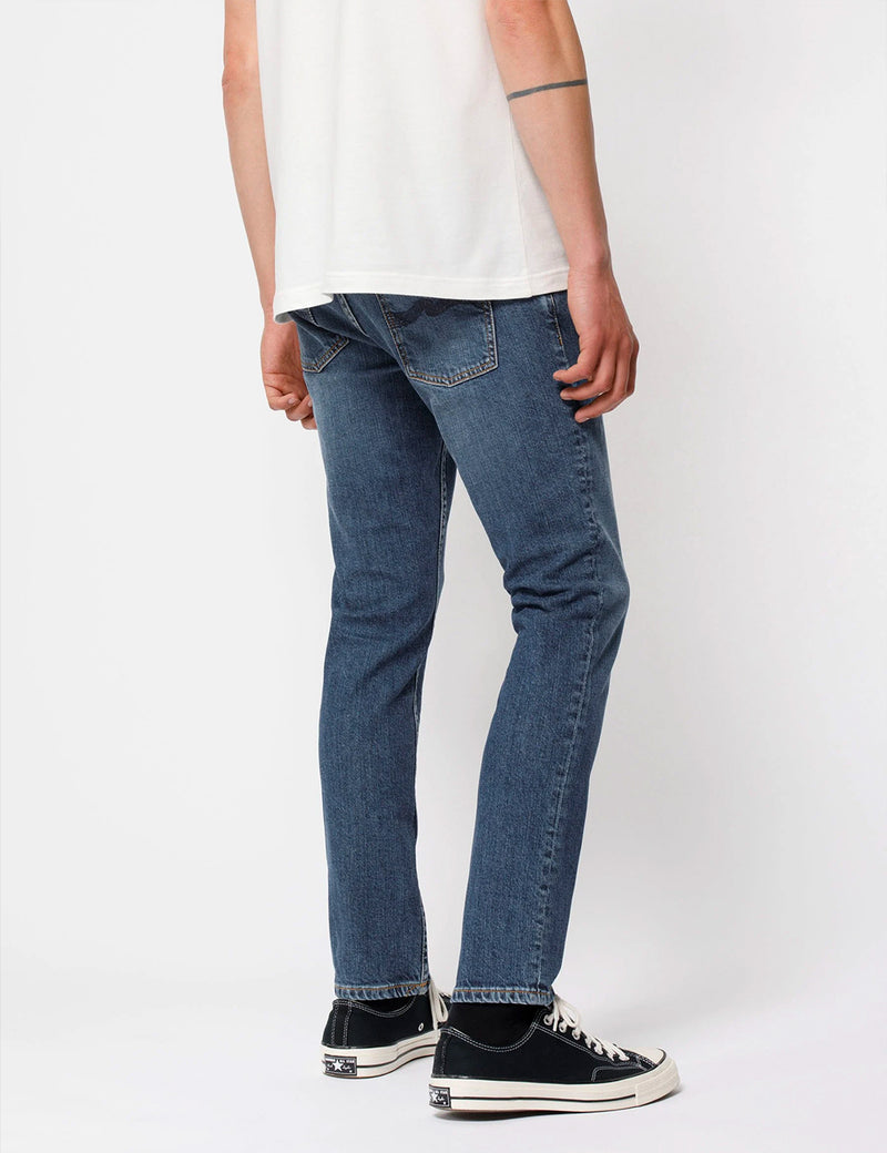 Nudie Lean Dean Jeans (Slim Tapered) - Blue Vibes
