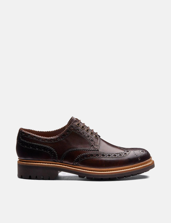 Grenson Archie Commando Sole Shoes (Leather) - Brown