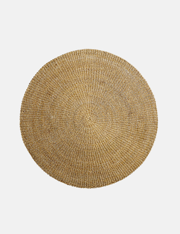 Bloomingville Circular Rug, Nature (Large) - Seagrass