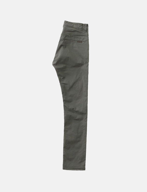 Nudie Adam Chinos (Slim Fit) - Bunker Green