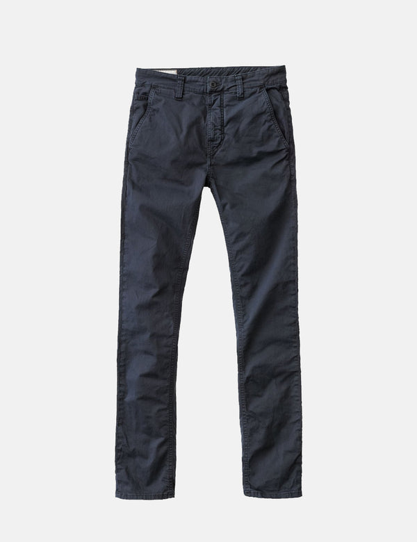 Nudie Adam Chinos (Slim Fit) - Dark Midnight Blue
