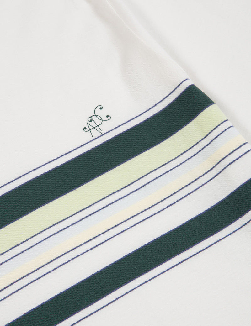A.P.C. Gaston T-Shirt (Stripe) - Green