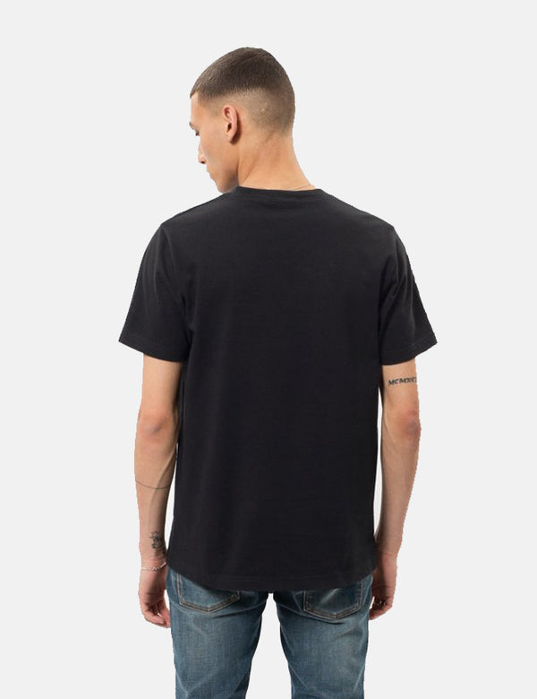 Nudie Kurt Worker T-Shirt - Black