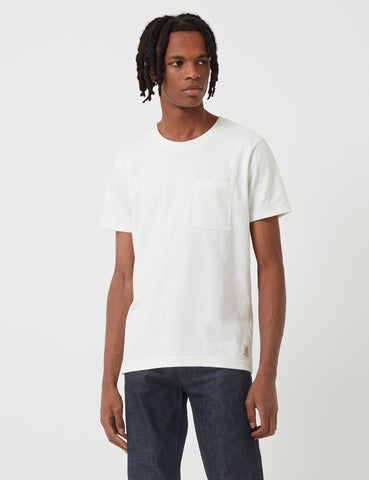 Nudie Kurt Worker T-Shirt - Off White