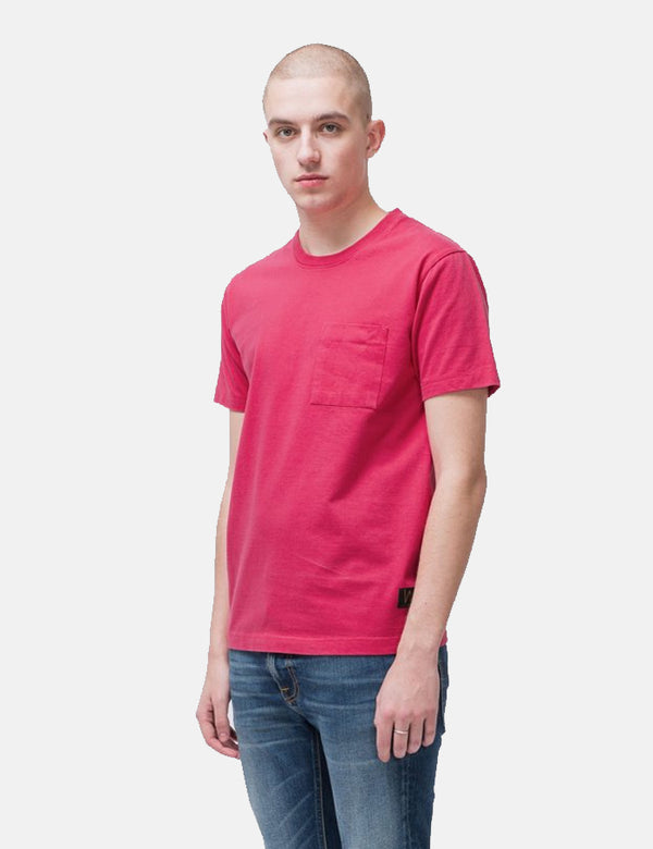 Nudie Kurt Worker T-Shirt - Cerise Pink
