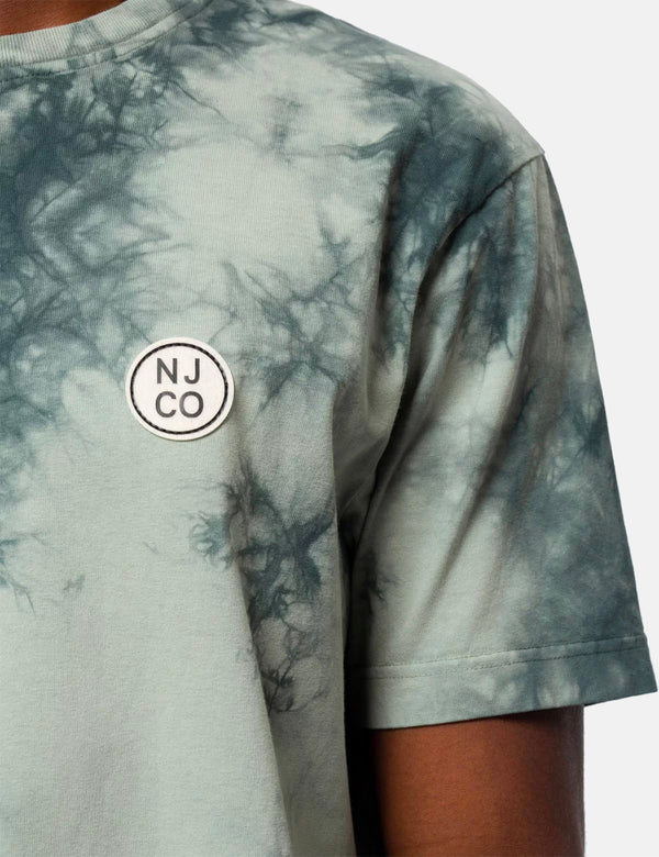 Nudie Uno NJCO Circle Tie Dye T-Shirt - Pale Green