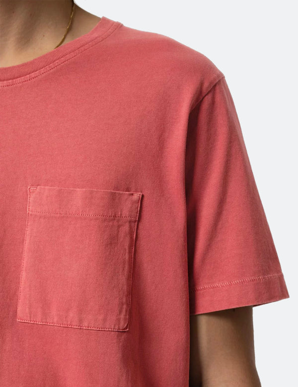 Nudie Roy One Pocket T-Shirt - Dusty Red
