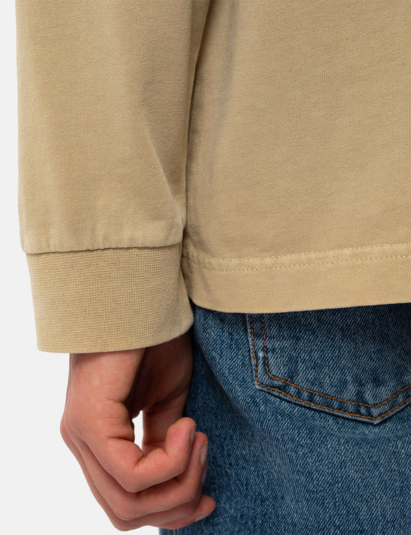 Nudie Rudi Heavy Pocket LS T-Shirt - Oat