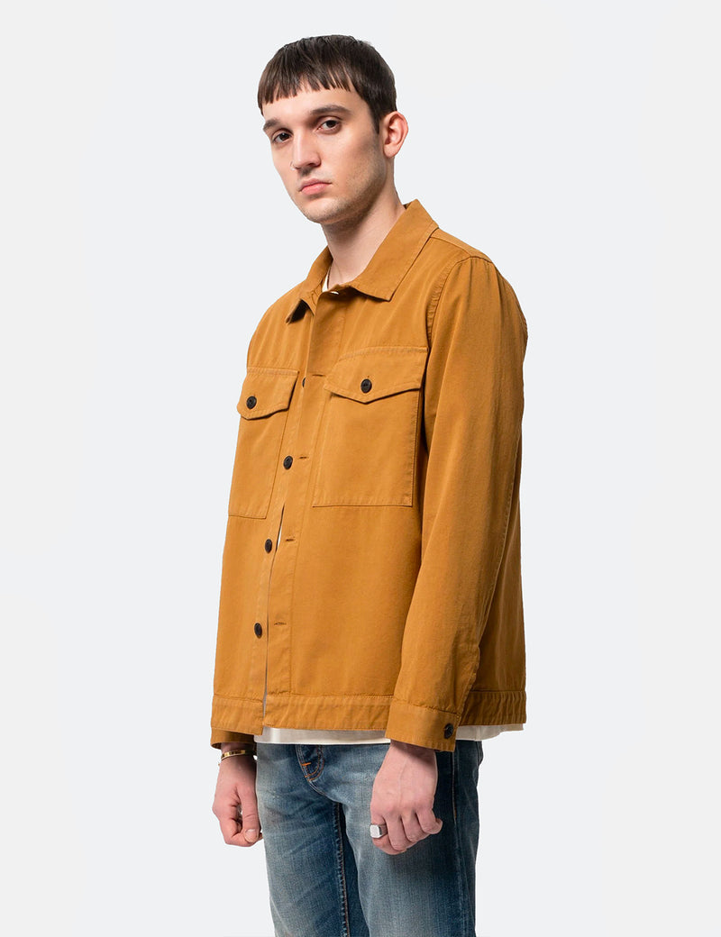 Nudie Colin Utility Overshirt - Camel