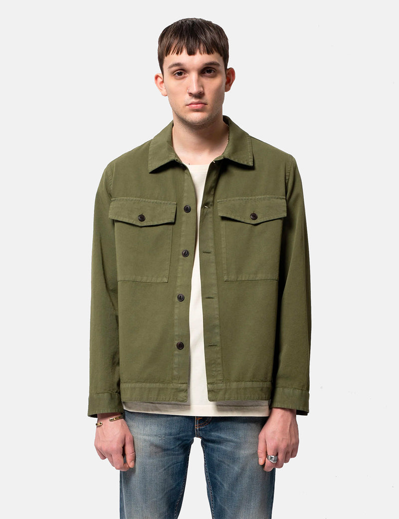 Nudie Colin Utility Overshirt - Green