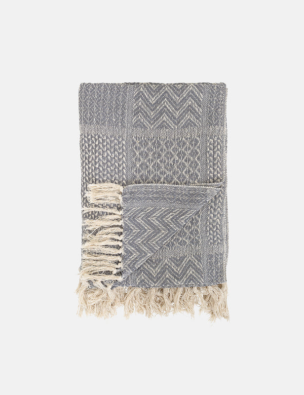 Bloomingville Recycled Cotton Throw - Grau