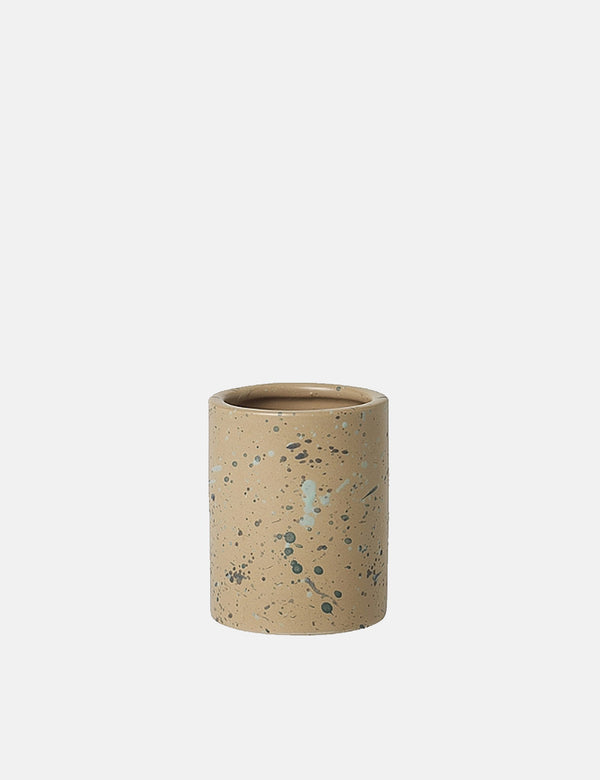 Broste Copenhagen Terrez Ceramic Medium Vase - Indian Tan