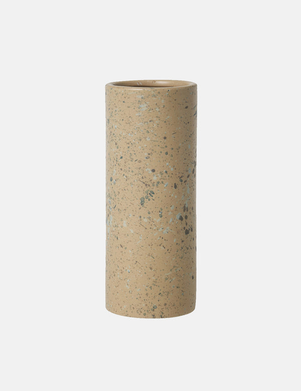 Broste Copenhagen Terrez Ceramic Large Vase - Indian Tan